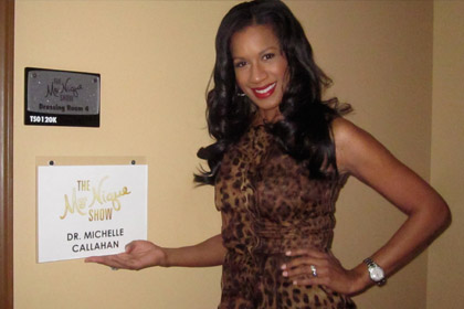 Dr. Michelle Backstage at The Mo'Nique Show