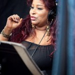 Chaka recording the theme song for Wedlock or Deadlock