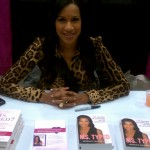 Dr. Michelle signing books