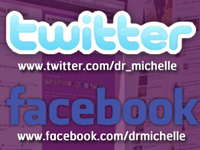 Dr. Michelle on Twitter & Facebook